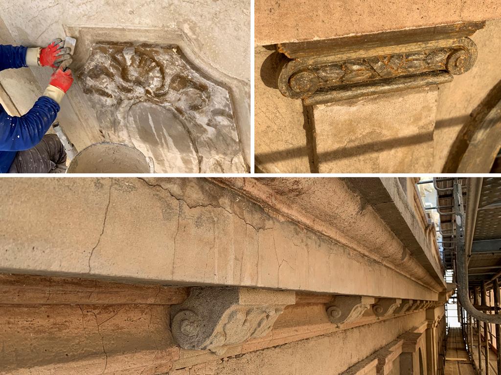 Detalles proceso de restauración Plaça Catalunya, 23 GTA Europa