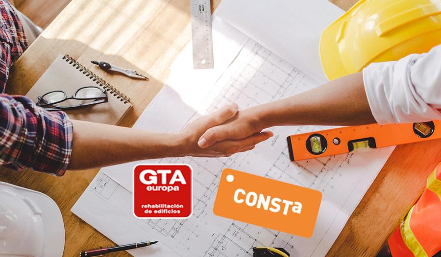 Contrato sello CONSTA rehabilitación de edificios garantía GTAEuropa