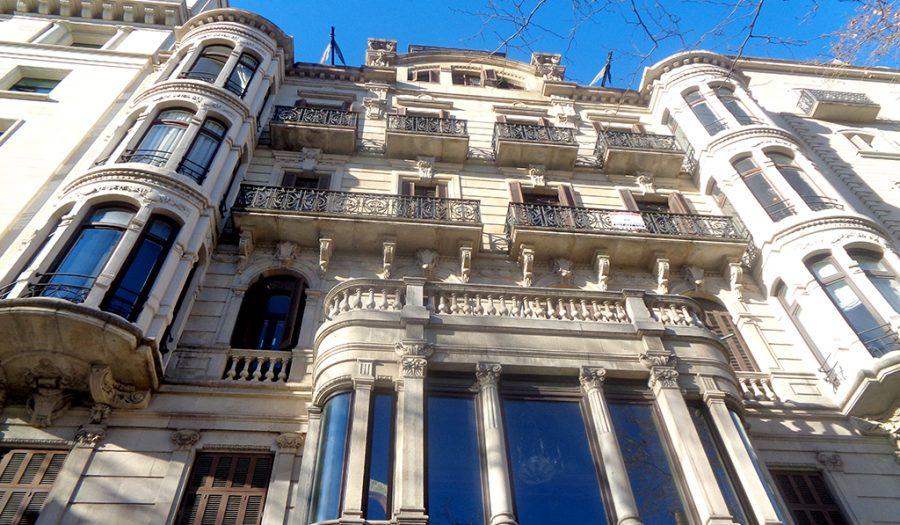 Fachada antes de la rehabilitación del edificio de Paseo de Gracia, 3 de Barcelona