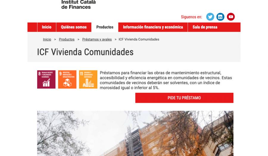 Gestión de ayudas ICF Vivienda Comunidades